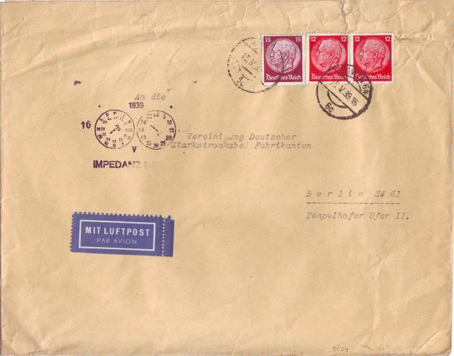 Briefe Mit Luftpost : Briefe vom deutschen reich kaufen seba berlin