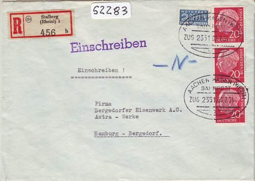 Nürnberg Diverse Philatelie Lichtenfels // Bahnpost 1980