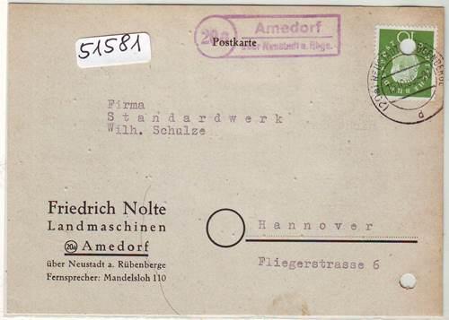 Briefmarken Bahnpoststempel 1958 Braunschweig Kreiensen Auf Ansichtskarte Sammlung Beleg