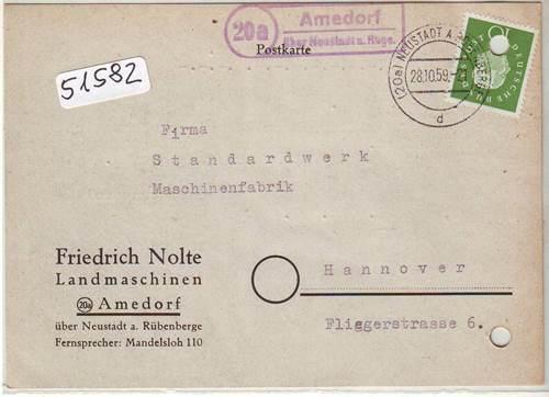 Bahnpost Bahnpoststempel 1958 Braunschweig Kreiensen Auf Ansichtskarte Sammlung Beleg Briefmarken